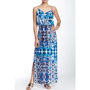 Romeo & Juliet Couture | Blue Printed Maxi Dress